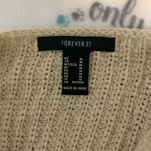 Forever 21 Tops - Sweater beige cami